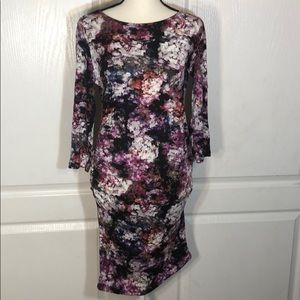 Jessica Simpson Abstract Floral Bodycon Dress NWOT